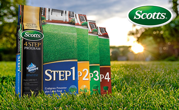 Improve Any Lawn with the Scotts 4-step Program!