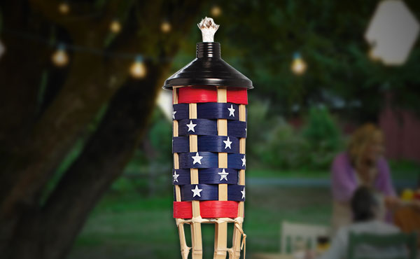 Outdoor Expressions American Flag Patio Torch