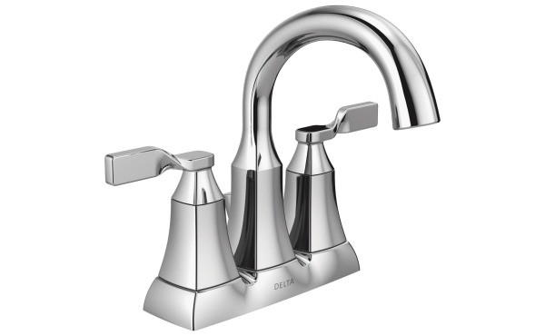 Delta Sawyer Chrome 2-Handle Lever 4 In. Centerset Bathroom Faucet with Pop-Up