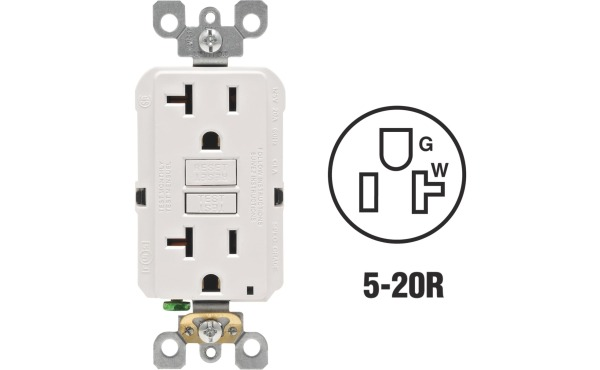 Leviton Self-Test Rounded Corner GFCI Outlets