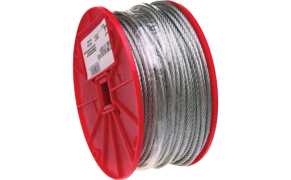 Campbell 3/16 In. x 250 Ft. Galvanized Wire Cable