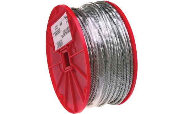 "Campbell 1/16"", 3/32"", 1/8"" x 500' Galvanized Wire Cable"