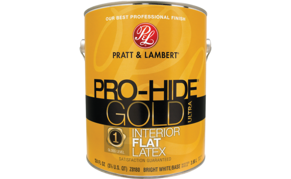Pratt & Lambert Pro-Hide Gold Ultra Latex Interior Wall Paint, Bright White Base, 1 Gal.