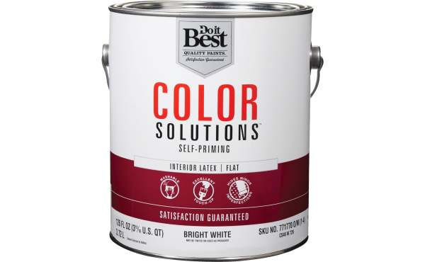 Do it Best Color Solutions Latex Self-Priming Interior Wall Paint, Bright White, 1 Gal.