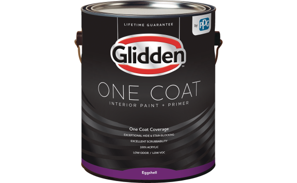 Glidden One Coat Interior Paint + Primer White & Pastel Base 1 Gallon