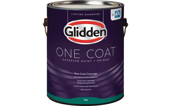Glidden One Coat Exterior Paint + Primer White & Pastel Base 1 Gallon