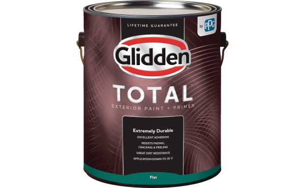Glidden Total Exterior Paint + Primer White & Pastel Base 1 Gallon