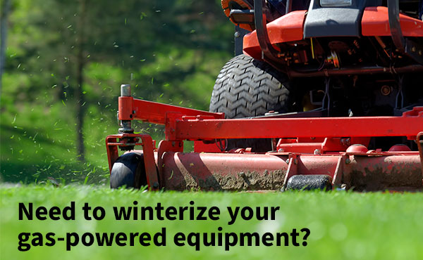 How to Winterize Your Gas-powered Equipment
